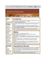 School of Education Weekly Newsletter